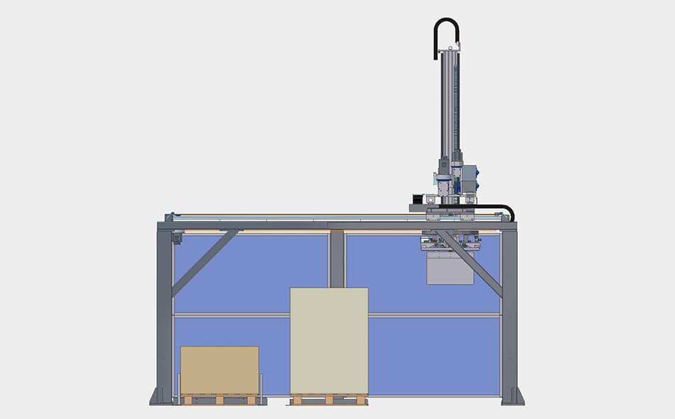 DM Pack, end of line packaging, end of line, line packaging, DOM, verticle, vertical, palletiser